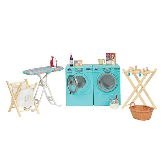 Our Generation Tumble And Spin Laundry Accessory Set Jatekok