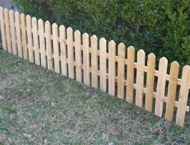 cedar wood fence decorative garden fencing