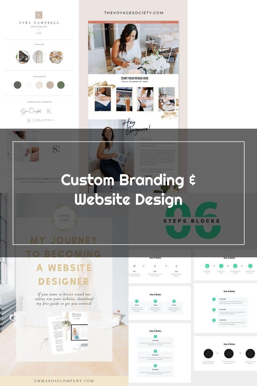 Custom Web Design And Branding Davey And Krista Neutral And Minimalist B In 2020 Custom Web Design Web Design Hand Lettering Logo