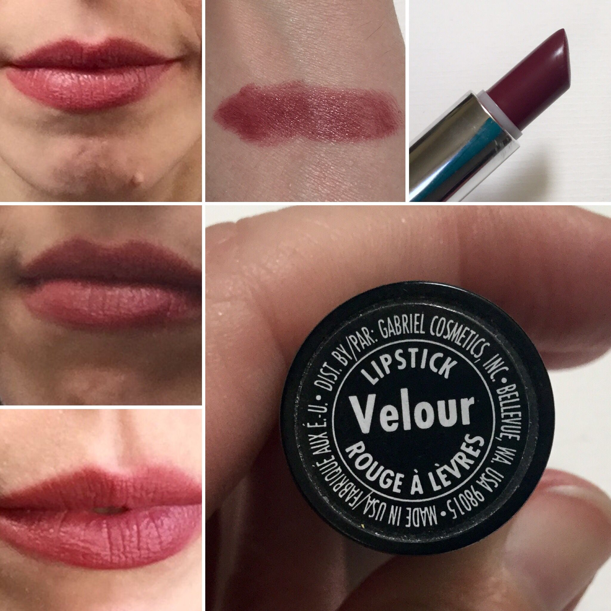 Velour lipstick by Gabriel Cosmetics. | My Lipstick Swatches ...