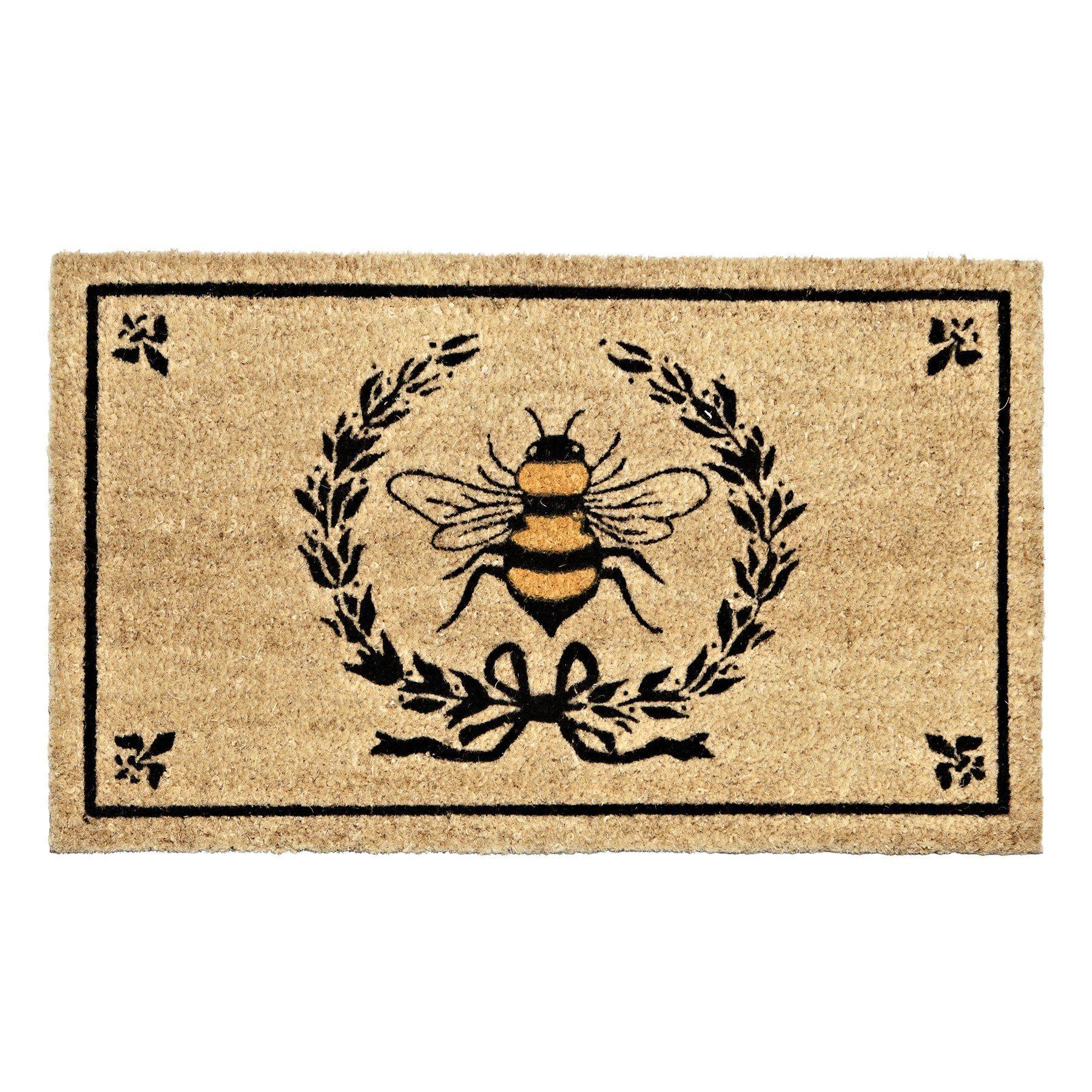 Front Entrance Bee In Crest Floor Mat Bee Decor Honey Bee Decor