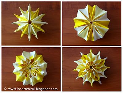 Origami Firework Folding Instructions | Origami Instruction (With ... | 303x400