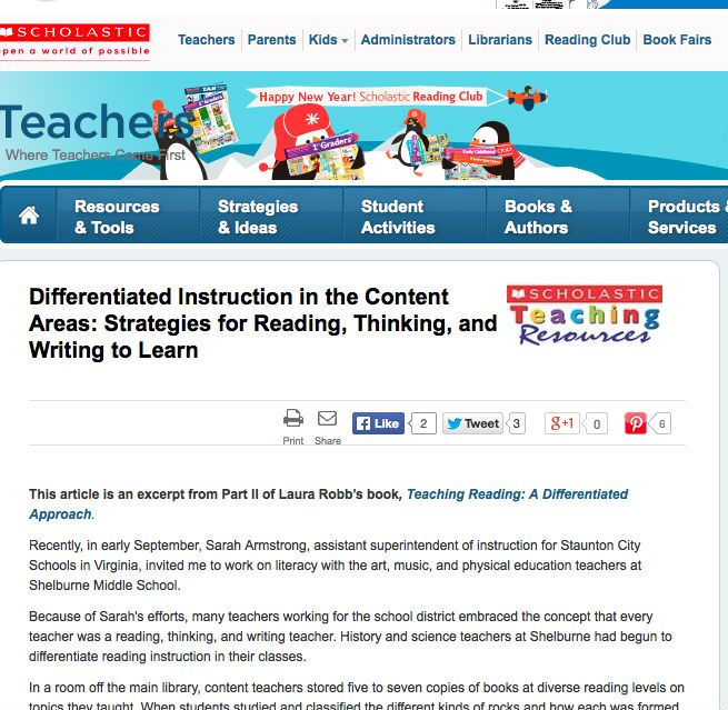 In This Article Laura Robb Discusses How To Differentiate Literacy