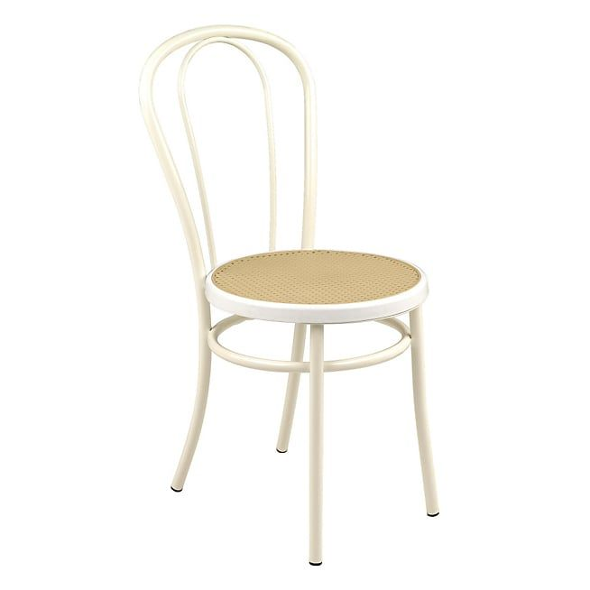 bistrot chaise blanche style bistrot