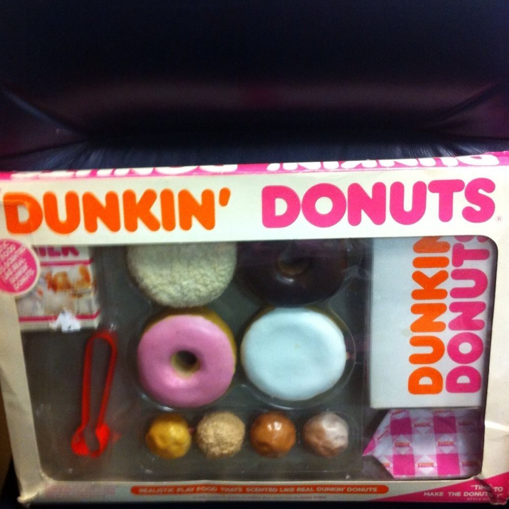 Dunkin Donuts Realistic Play Food Vintage 1987 Very Rear Toys