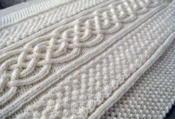 Celtic Blanket ⨯ KNITTING PATTERN ⨯ Baby blanket, Afghan ...