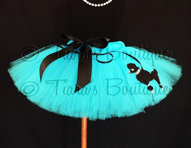 Tutu Sock Hop Sweetie 50s Inspired Poodle Skirt By TiarasTutus