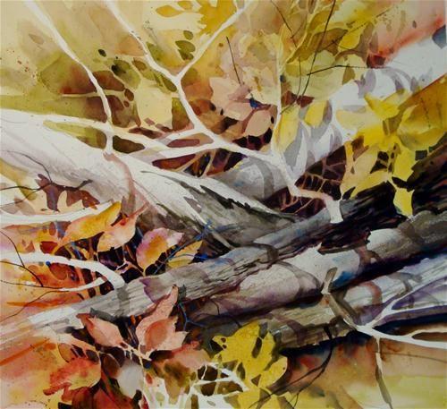 """Limbs and Leaves"" - Original Fine Art for Sale - © Kathy Los-Rathburn"