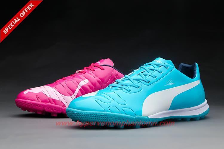 214109ba149 TF Fuballschuhe Blue Pink Puma evoPOWER 1 Tricks