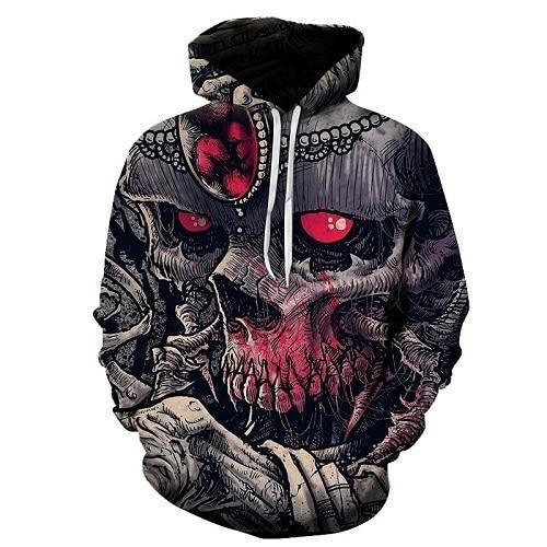 d37c198cdfad74 New 2018 Custom Unisex Sweatshirt 3D Skull Printed Pullovers Hoodies D –  dresslliy