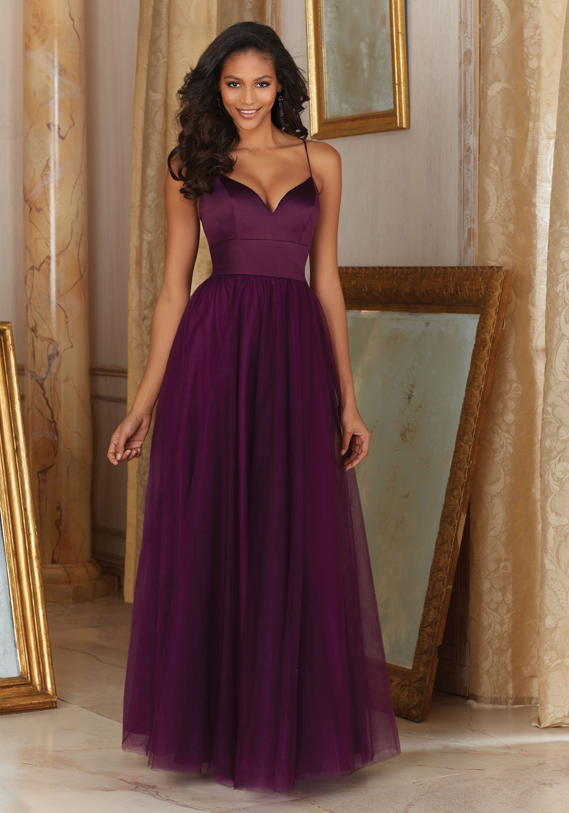 Satin and tulle bridesmaid dress designed by madeline gardner