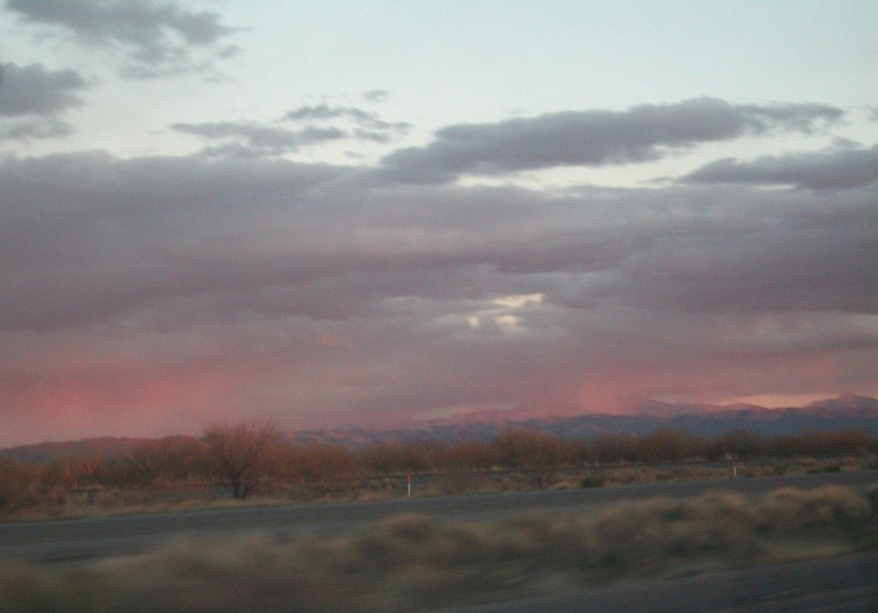 "Arizona Mountain sunset ""fire"""