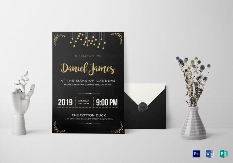 Farewell Invitation Card Template Inside Farewell Card Template Word Torrentvaccine Com