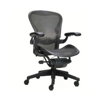 Second Hand Herman Miller Aeron Chair Graphite Mesh Size C Leather Office Chair Mesh Office Chair Office Chair