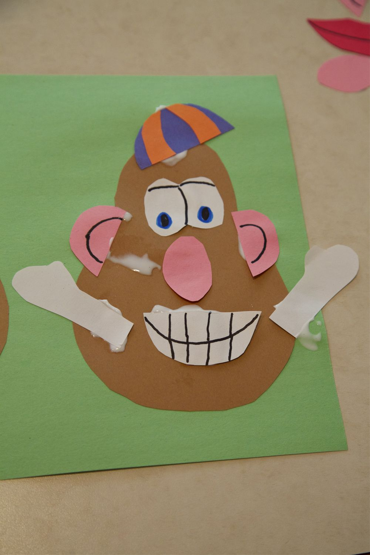 Toddler Craft Activity Mr Potato Head Kid S Crafts Toddler