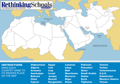 Middle East Map Game Rethinking Schools   Just For Fun   Map Game | Geography quiz