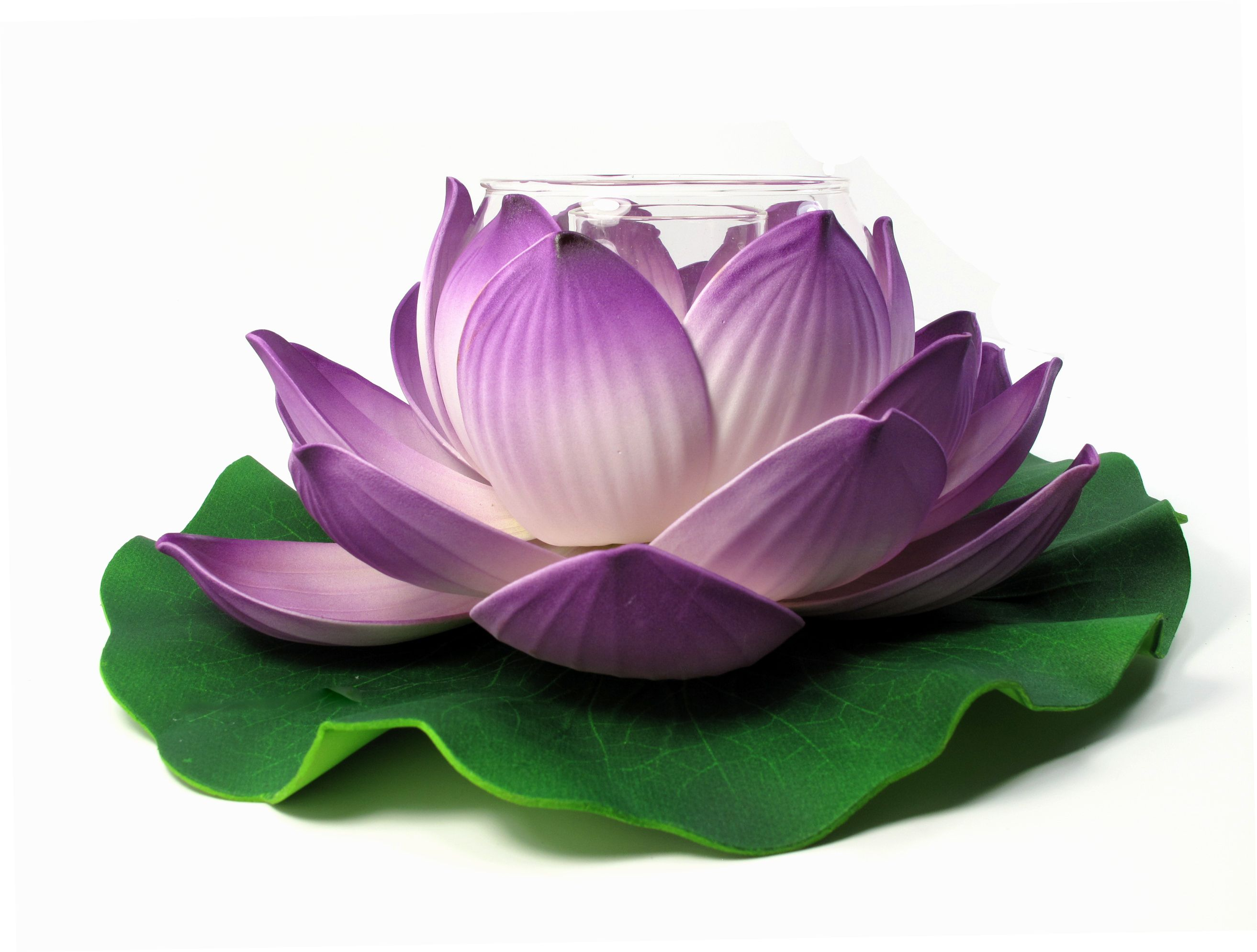 Floating Lotus Flower Tealight Candle Holder Purple Outdoor