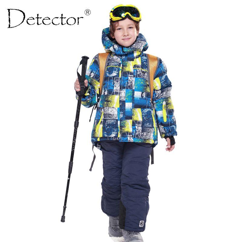 a69868314 Boys Ski Sets Waterproof Windproof Children Clothing Kids Winter Warm  Snowboard Outdoor Ski Suit Boys Ski Jacket