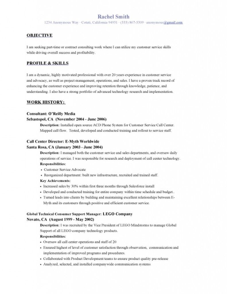 Resume Accomplishments Customer Service