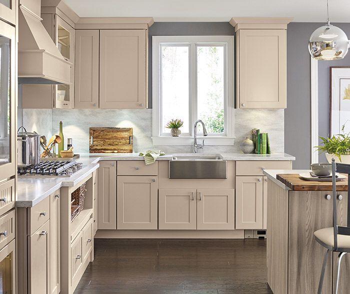 Diamond cabinets, Lambswool finish | Beige kitchen ...