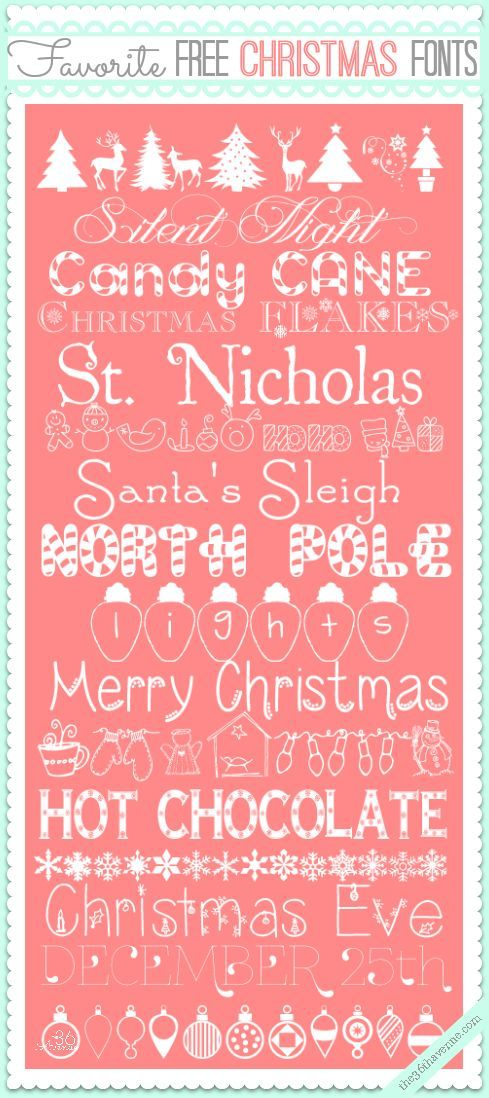Free Christmas Fonts The 36th Avenue Christmas Fonts Free Christmas Fonts Scrapbook Fonts