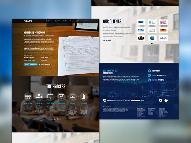 Evoluted Inner Site Pages Web Design Best Web Design Site