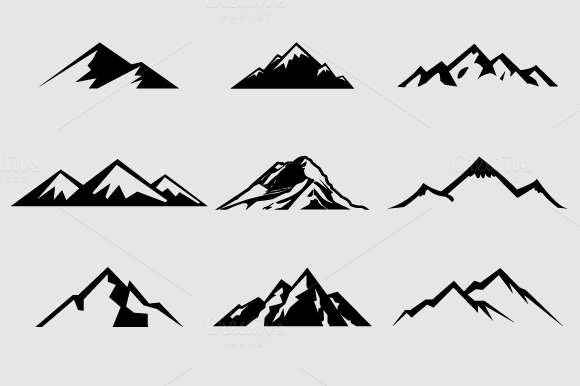 Schauen Sie sich Mountain Shapes For Logos Vol 1 von lovepower auf Creative Market an  Schauen Sie sich Mountain Shapes For Logos Vol 1 von lovepower auf Creative Market...