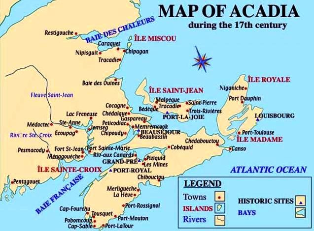 Acadie Canada Map Acadian Genealogy Homepage; Definitions of Common Acadian Terms