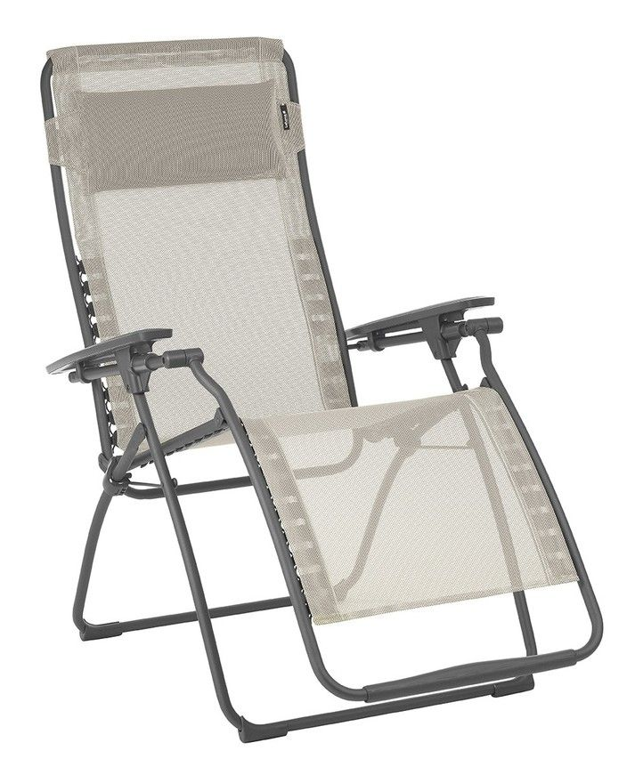 Fauteuil Relax Futura Lafuma Lfm3111 Seigle In 2020 Lawn Chairs Steel Frame Outdoor Furniture