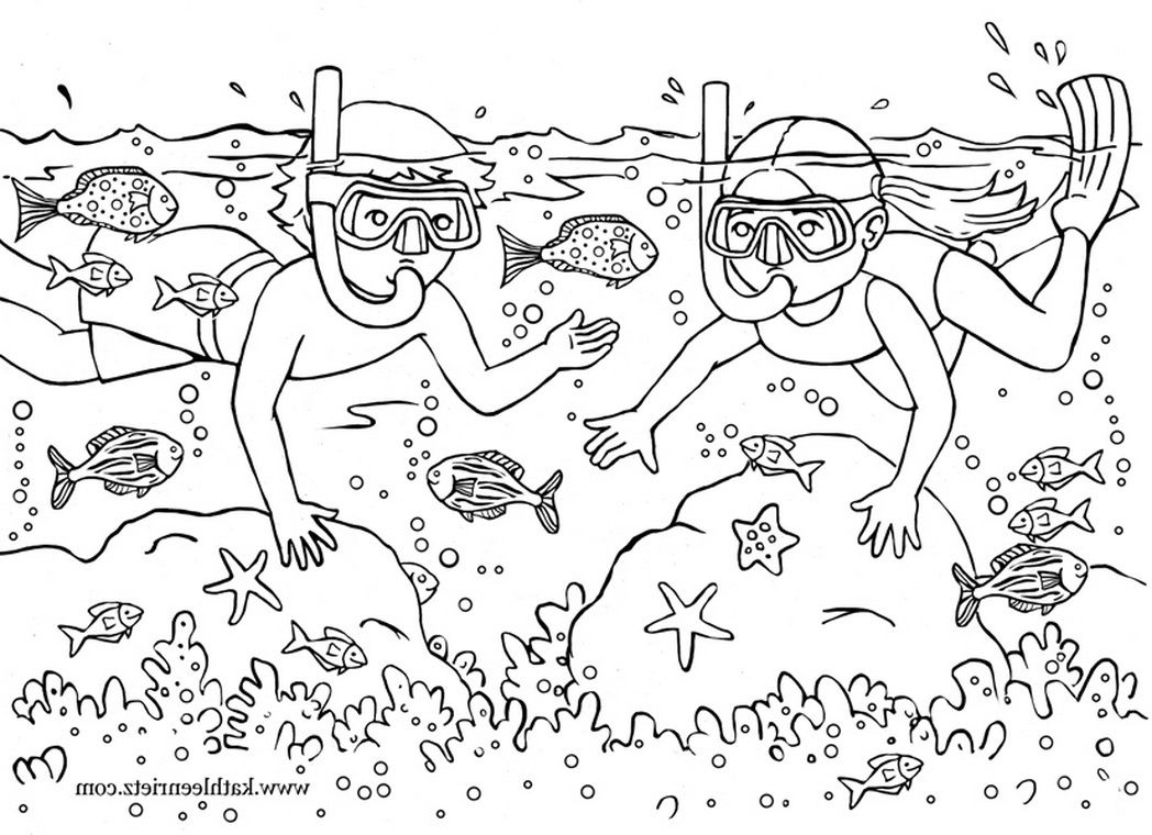 when summer ocean dive coloring pages for kids printable summer coloring pages for kids