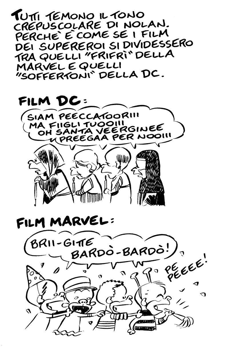 La differenza tra i cine-fumetti Marvel e quelli DC Comics secondo Leo Ortolani