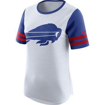 Buffalo Bills Nike Women s Gear Up Modern Fan Performance T-Shirt - White 20bf6c416c