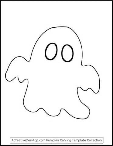 image relating to Ghost Template Printable known as Printable Halloween Stencils #10 - Pumpkin Carving Ghost