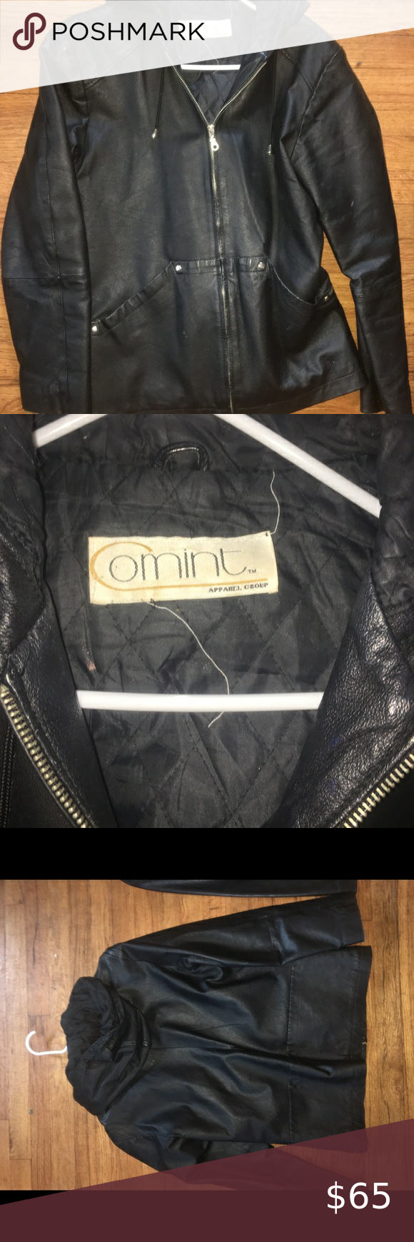 Comint Hooded Leather Jacket Barely Used Leather Jacket Been In A Closet Very Cute And Comfortable Comint Ja Leather Jacket With Hood Leather Jacket Jackets [ 1740 x 580 Pixel ]