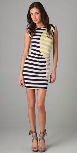 Cool striped dress.