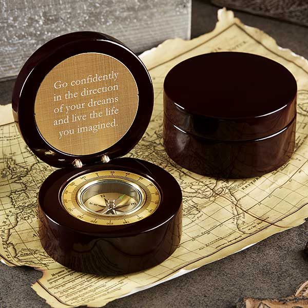 Inspiring Message Engraved Navigator Compass Engraved Compass