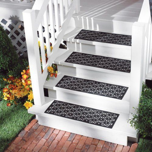 Decorative Outdoor Stair Treads Picture Of Outdoor Rubber Stair Mats By Collections Etc Outdoor Stairs Stair Treads Outdoor Deco