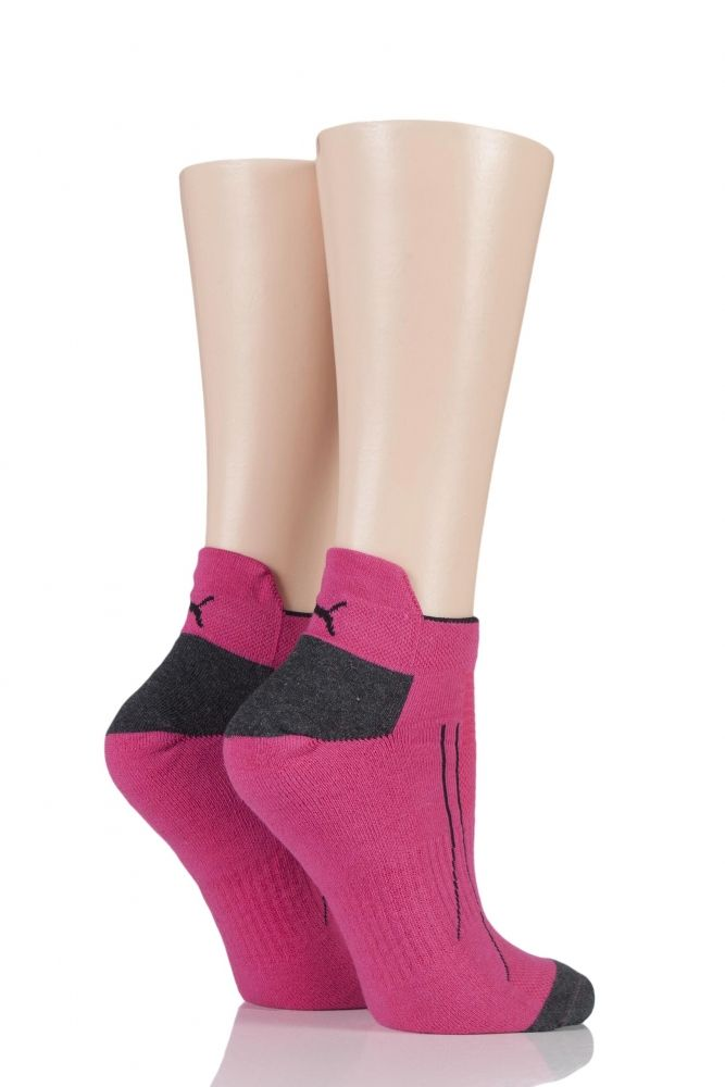 866924680 Mens and Ladies 2 Pair Puma Performance All Sport Sneaker Socks with Coolmax