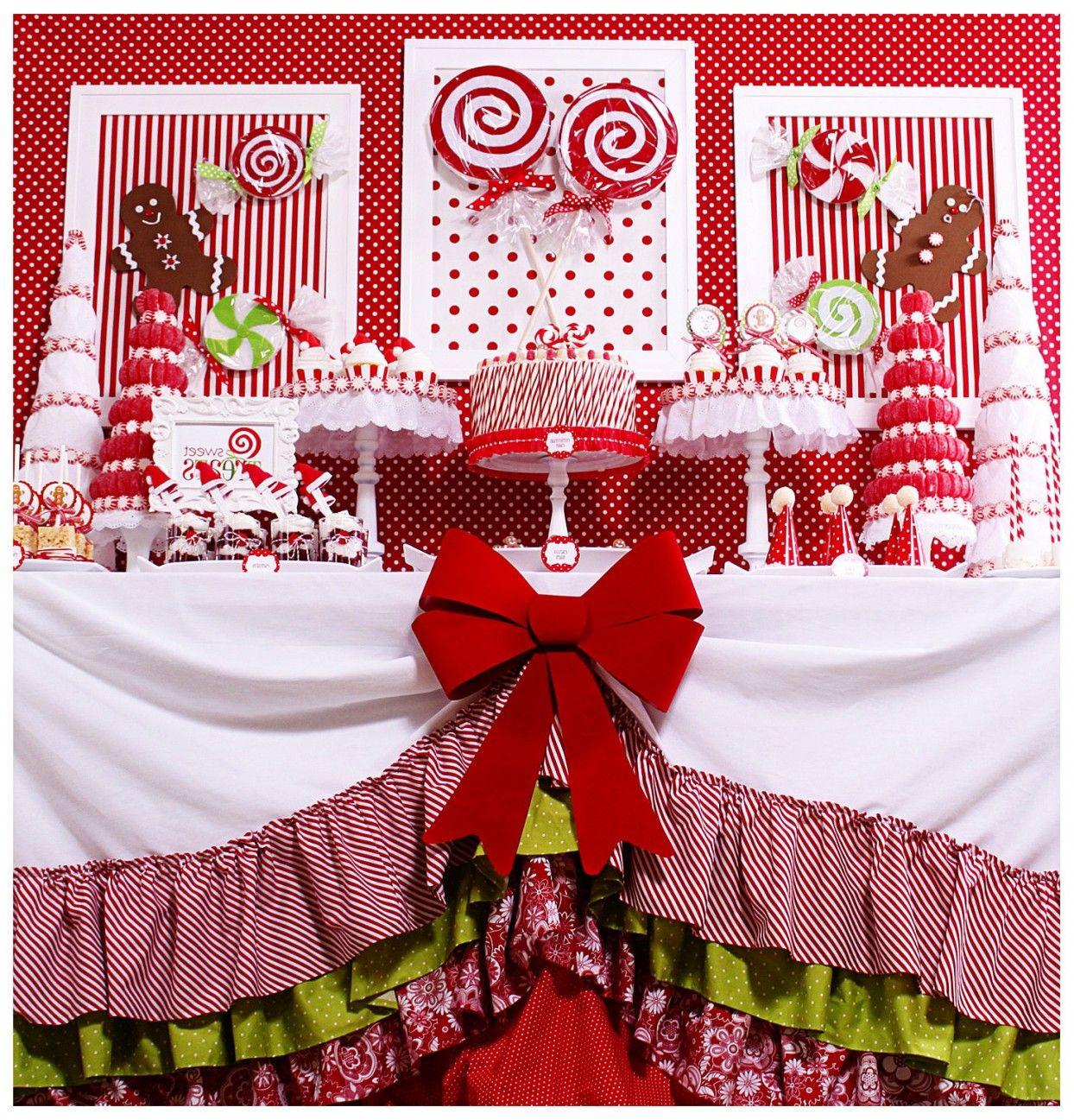 Christmas dessert table decoration ideas - Decoration Decoration Red Candy Land Christmas Dessert Table