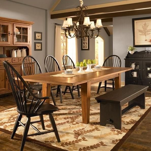 Attic Heirlooms 7 Piece Dining Set By Broyhill Furniture Dining Room Furniture Sets Dining Table With Leaf Primitive Dining Rooms