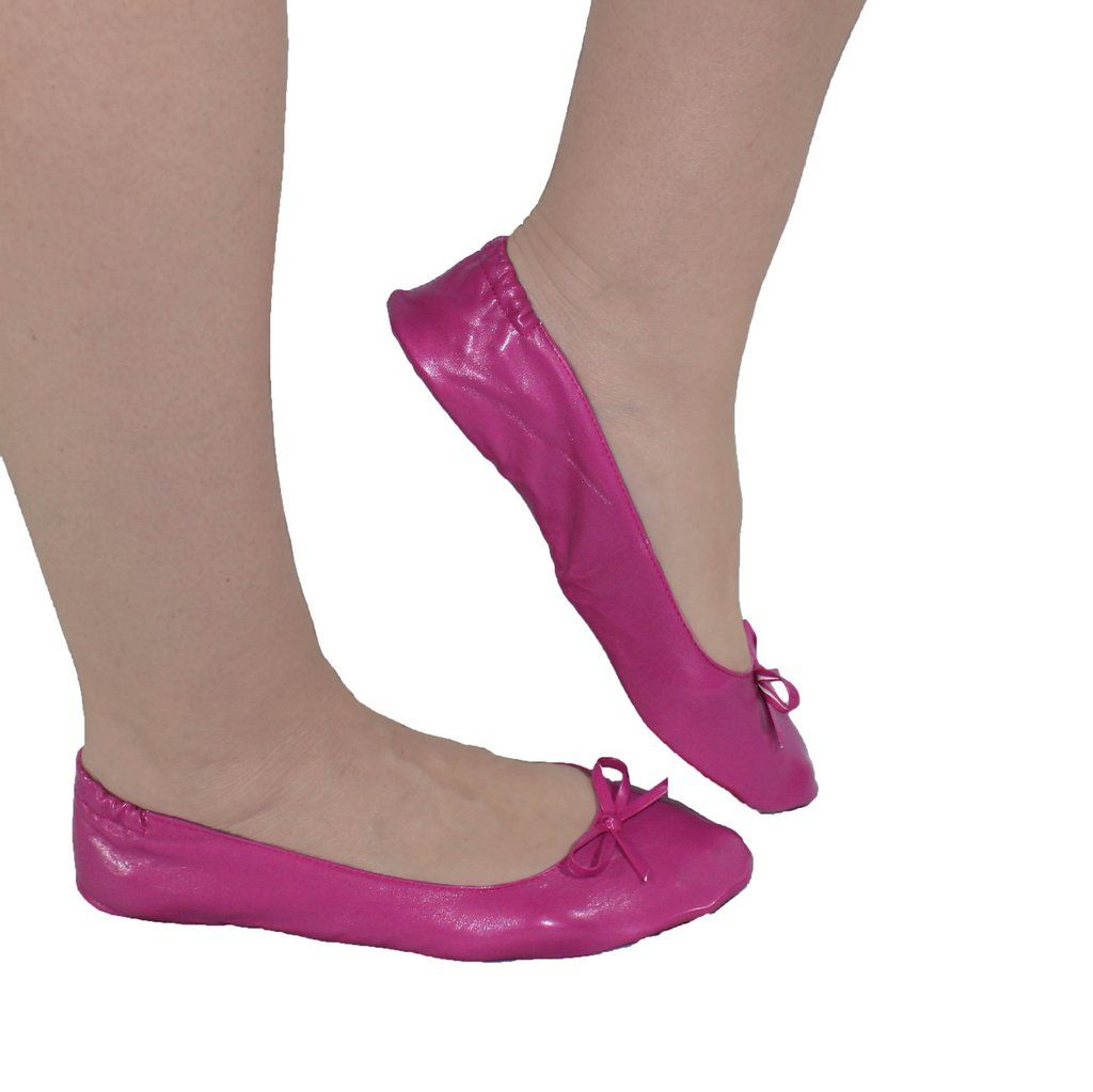 Fancy Foldable Flats In Pink Fold Up Shoes Just Wanted Shoes Heels Foldable Ballet Flats