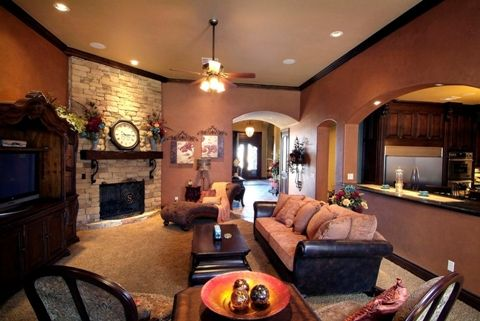 Living Room Color Scheme Ideas. The cut out to the kitchen would be ...