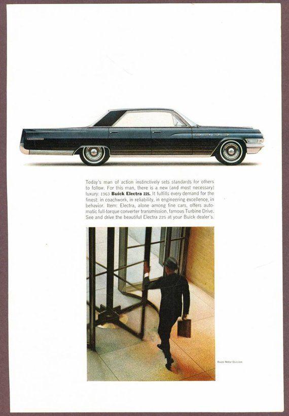 Vintage 1963 Buick Electra 225 Car Advertisement, Magazine
