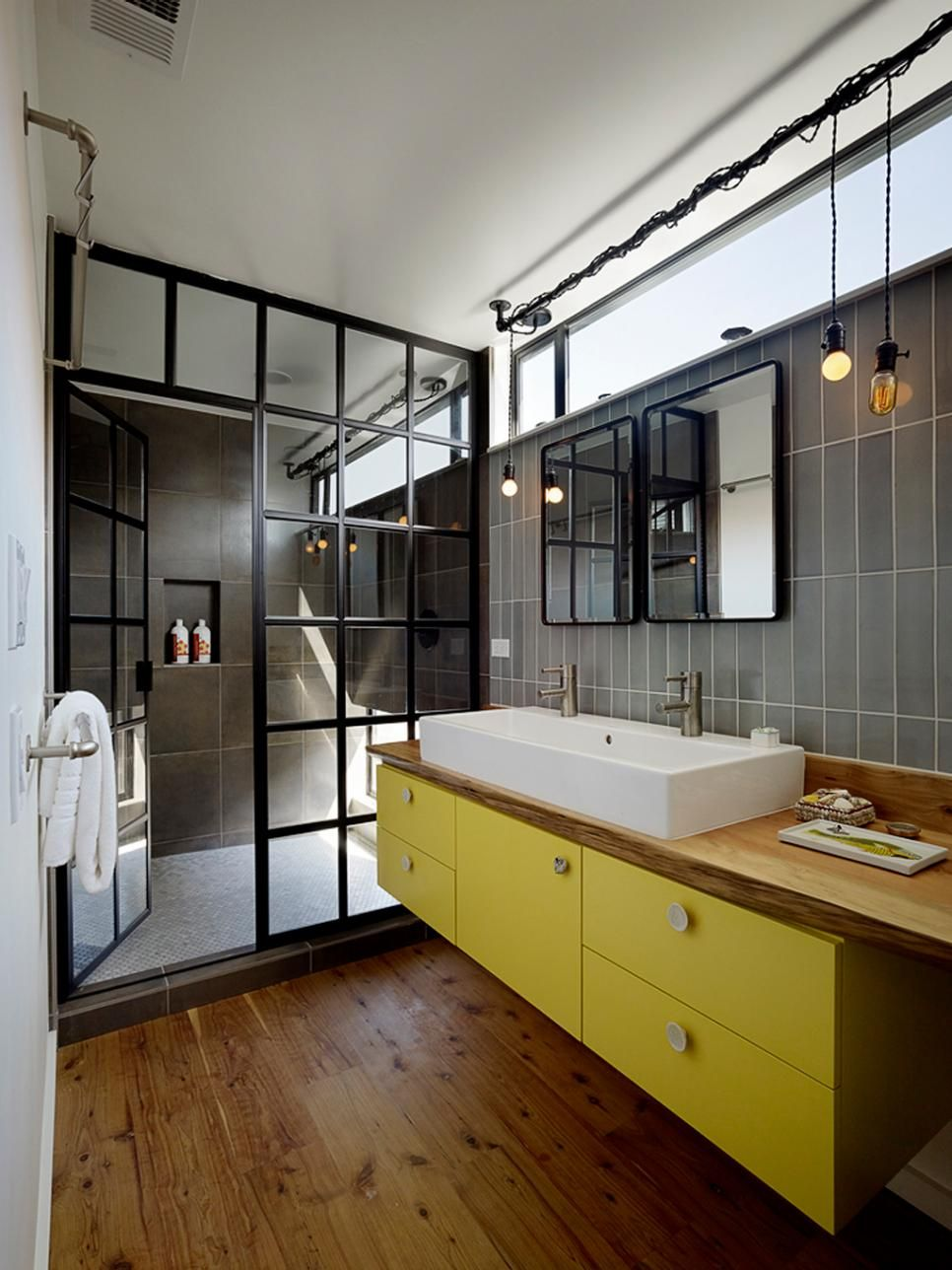 Interiors Windows colors and steam punk detailing make