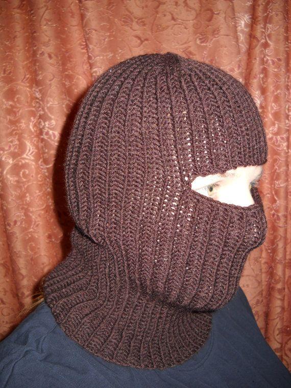New handmade knit wool balaclava hat cap face mask | Pasamontañas ...
