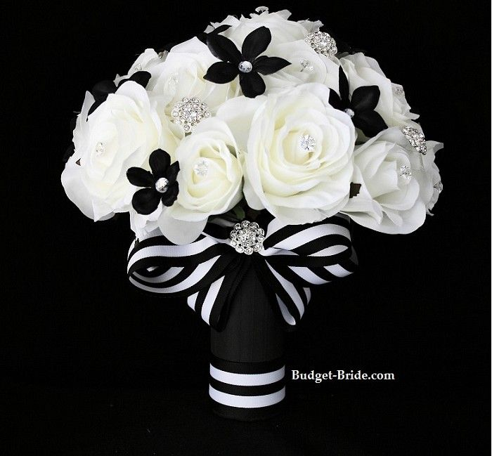 Black White Wedding Flowers And Bouquet