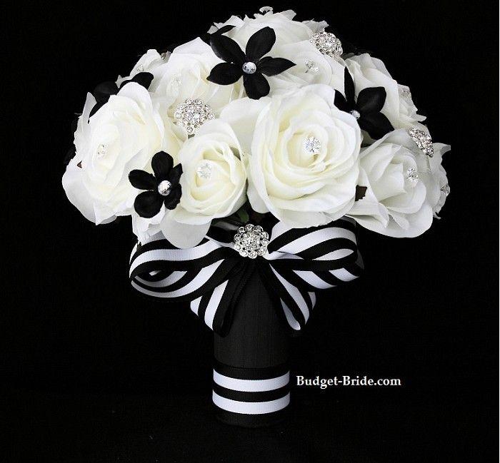 black white wedding flowers black and white wedding. Black Bedroom Furniture Sets. Home Design Ideas