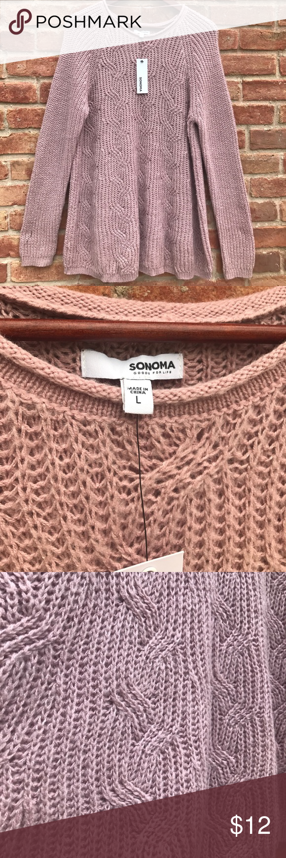 Beautiful pink sweater !! Brand new with tags!! Super soft sweater ...
