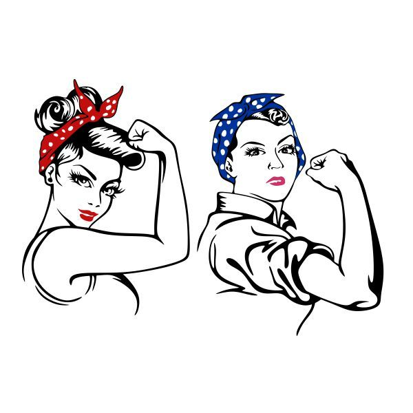 We Can Do It Rosie Cuttable Design Cut File Vector