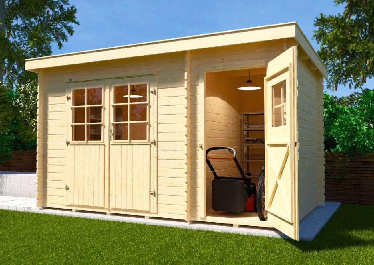 Weka Gartenhaus 254 Gr 1 2 Weka Gartenhaus Gartenhaus Gartenhaus Flachdach Modern
